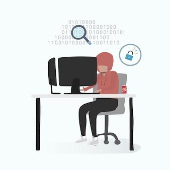 Illustration d'un avatar humain utilisant la technologie