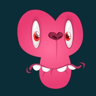Illustration d'avatar visage drôle de monstre