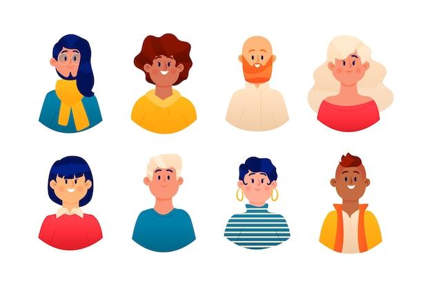 Illustration d'avatars de personnes