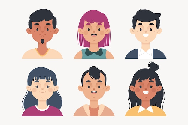 Illustration d'avatars de personnes