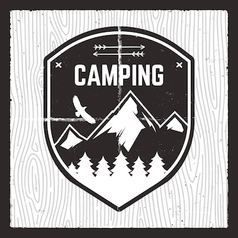 Illustration d'aventure de camping