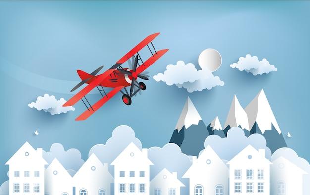 Illustration d'un avion sur un nuage.
