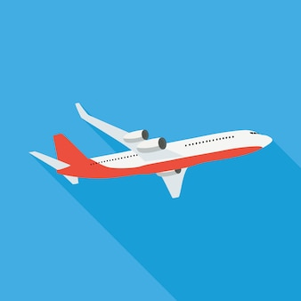 Illustration d'avion plat