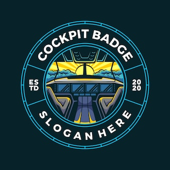 Illustration de badge vue cockpit