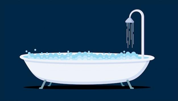 Illustration de baignoire icône vectorielle