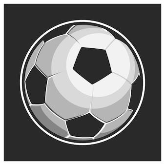 Illustration de ballon de football issolated