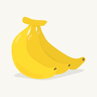 Illustration de banane colorée dessinés à la main