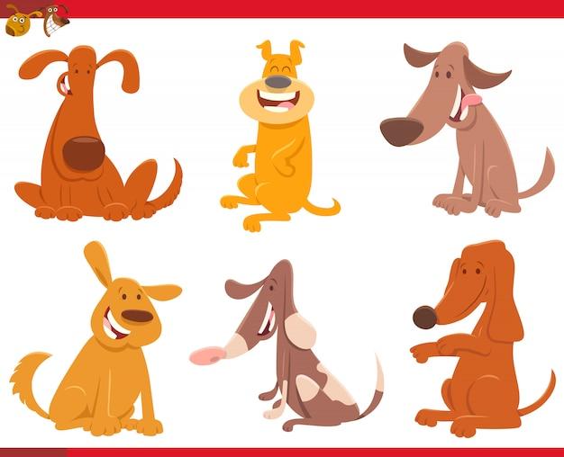Illustration de bande dessinée de la collection de chiens ou de chiots