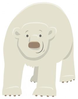 Illustration de bande dessinée d'un personnage animal d'ours polaire