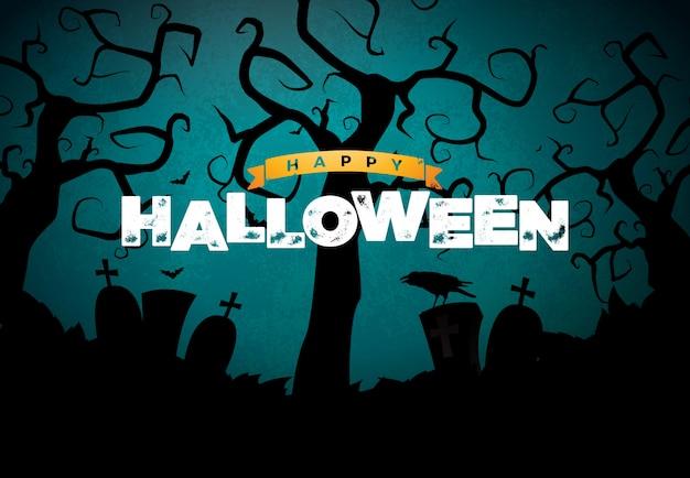 Illustration de bannière happy halloween