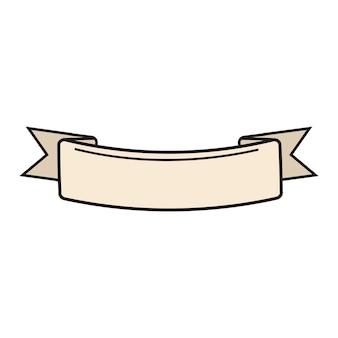 Illustration de la bannière de ruban vierge