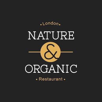 Illustration de la bannière de timbre alimentaire biologique