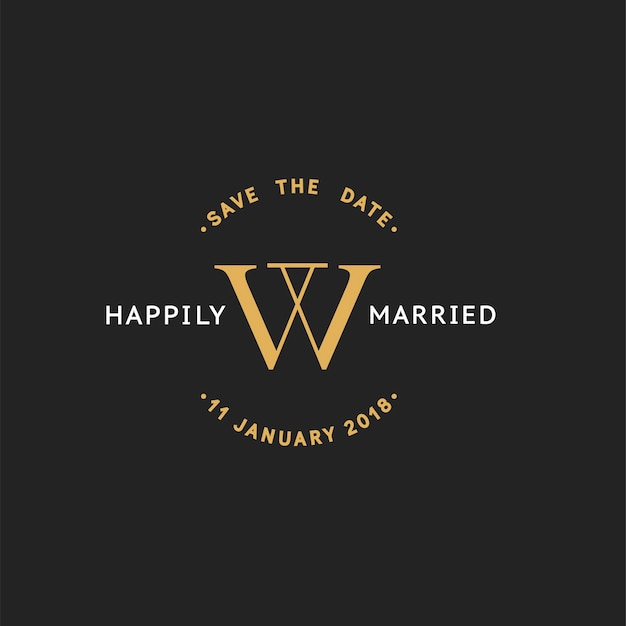 Illustration de bannière de timbre invitation de mariage