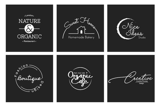Illustration de bannière de timbre de logo de boutique de commerce