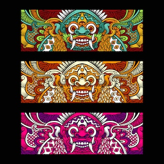 Illustration de barong balinais