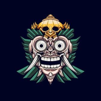 Illustration de barong mask mecha
