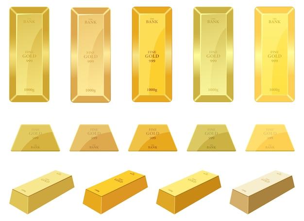 Illustration de barre d'or isolée sur fond blanc
