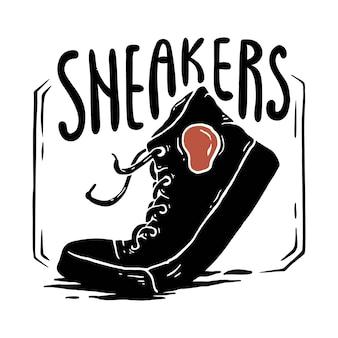 Illustration de baskets noires