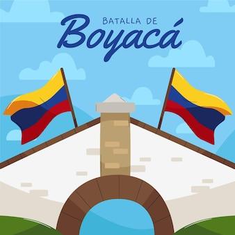 Illustration de la bataille de boyaca