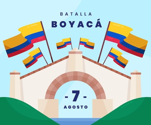 Illustration de la bataille plate de boyaca