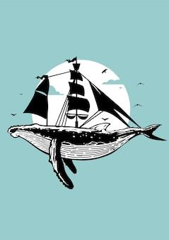 Illustration de bateau pirate rhino