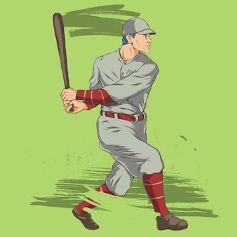 Illustration de batte de baseball