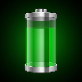 Illustration de batterie numérique sur fond