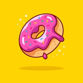 Illustration de beignet avec contour