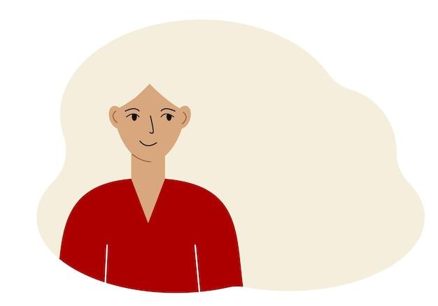 Illustration d'une belle femme aux cheveux luxuriants