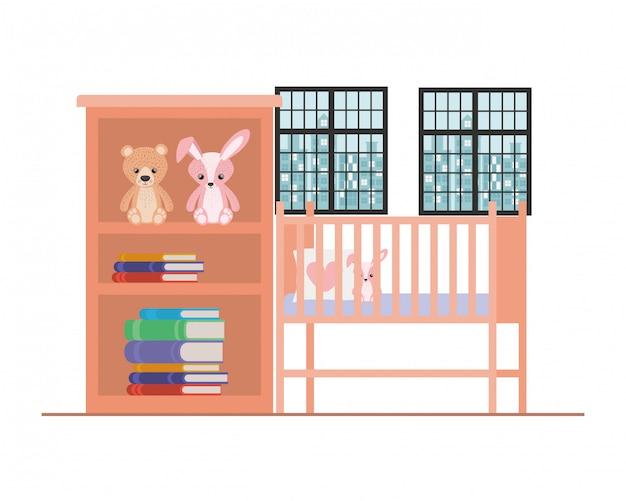 Illustration de berceau bébé isolé