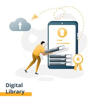 Illustration de la bibliothèque numérique