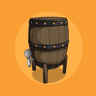 Illustration de bière en baril