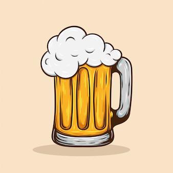 Illustration de bière rétro vintage