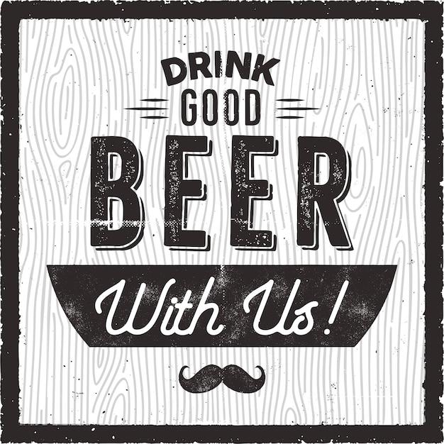 Illustration de bière rétro