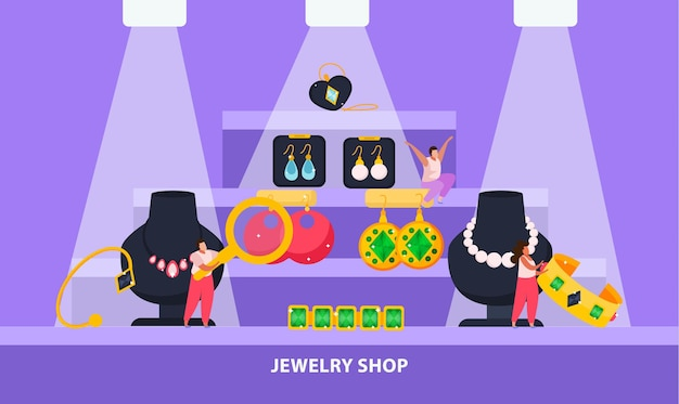 Illustration de la bijouterie