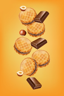 Illustration de biscuits au chocolat