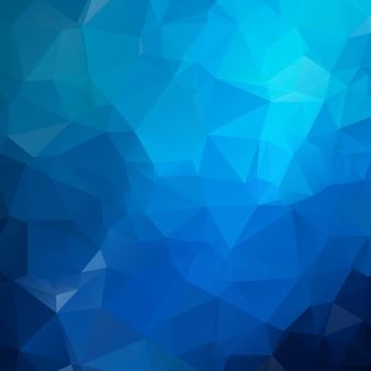 Illustration bleue polygonale, composée de triangles. fond géométrique dans un style origami avec dégradé. design triangulaire pour votre entreprise.