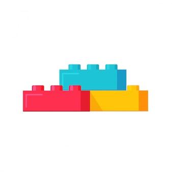 Illustration de blocs de construction ou de jouets de constructeur