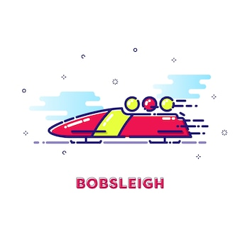Illustration de bobsleigh