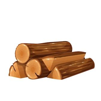 Illustration de bois de chauffage. bûche de bois, bois et tas de bois.