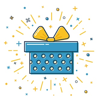 Illustration de boîte cadeau à pois