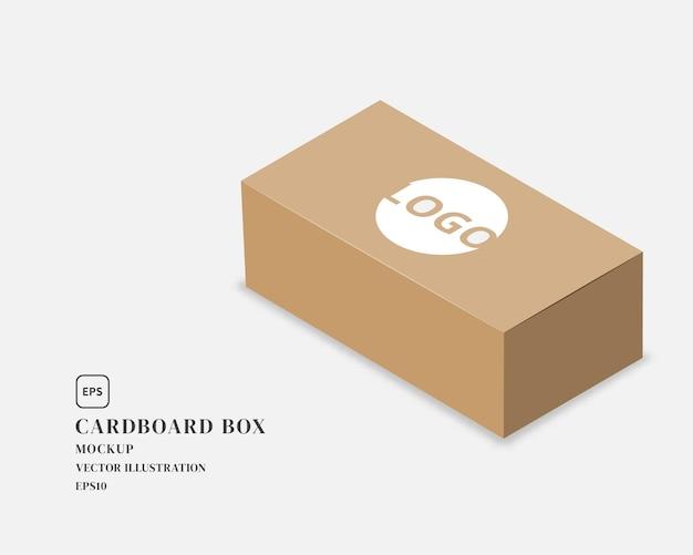 Illustration de la boîte en carton d'emballage