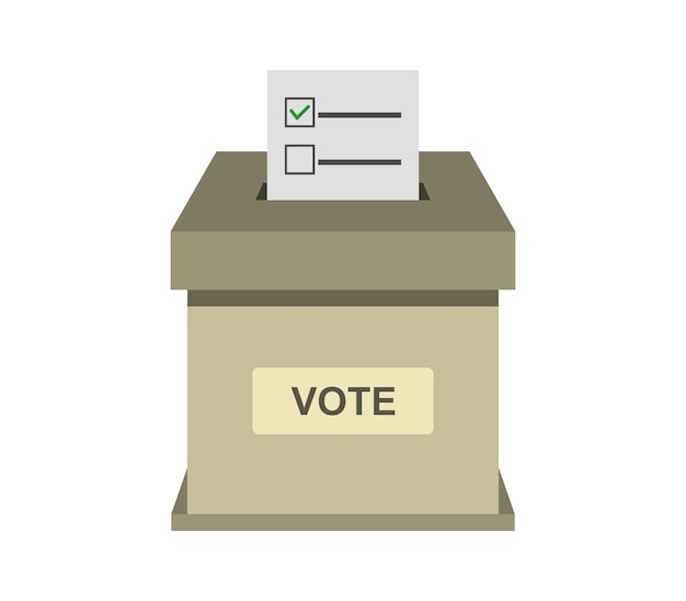 Illustration de la boîte de vote