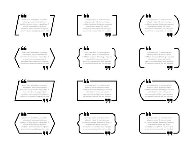 Illustration de boîtes de devis créatif