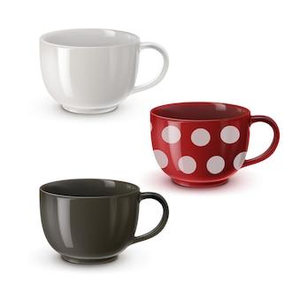 Illustration de bols colorés pour soupe