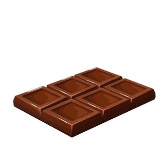 Illustration de bonbons au chocolat pour une boutique de confiserie de conception publicitaire