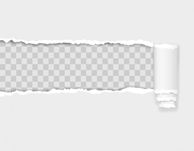 Illustration de bord de papier déchiré