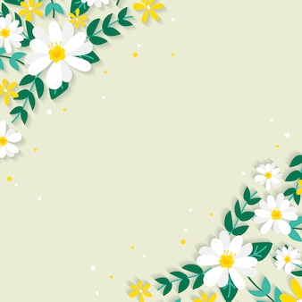 Illustration de bordure florale de printemps