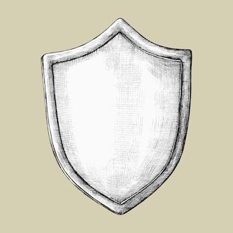 Illustration de bouclier dessinés à la main