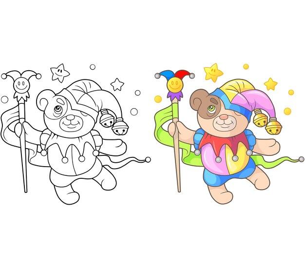 Illustration de bouffon de bel ours en peluche